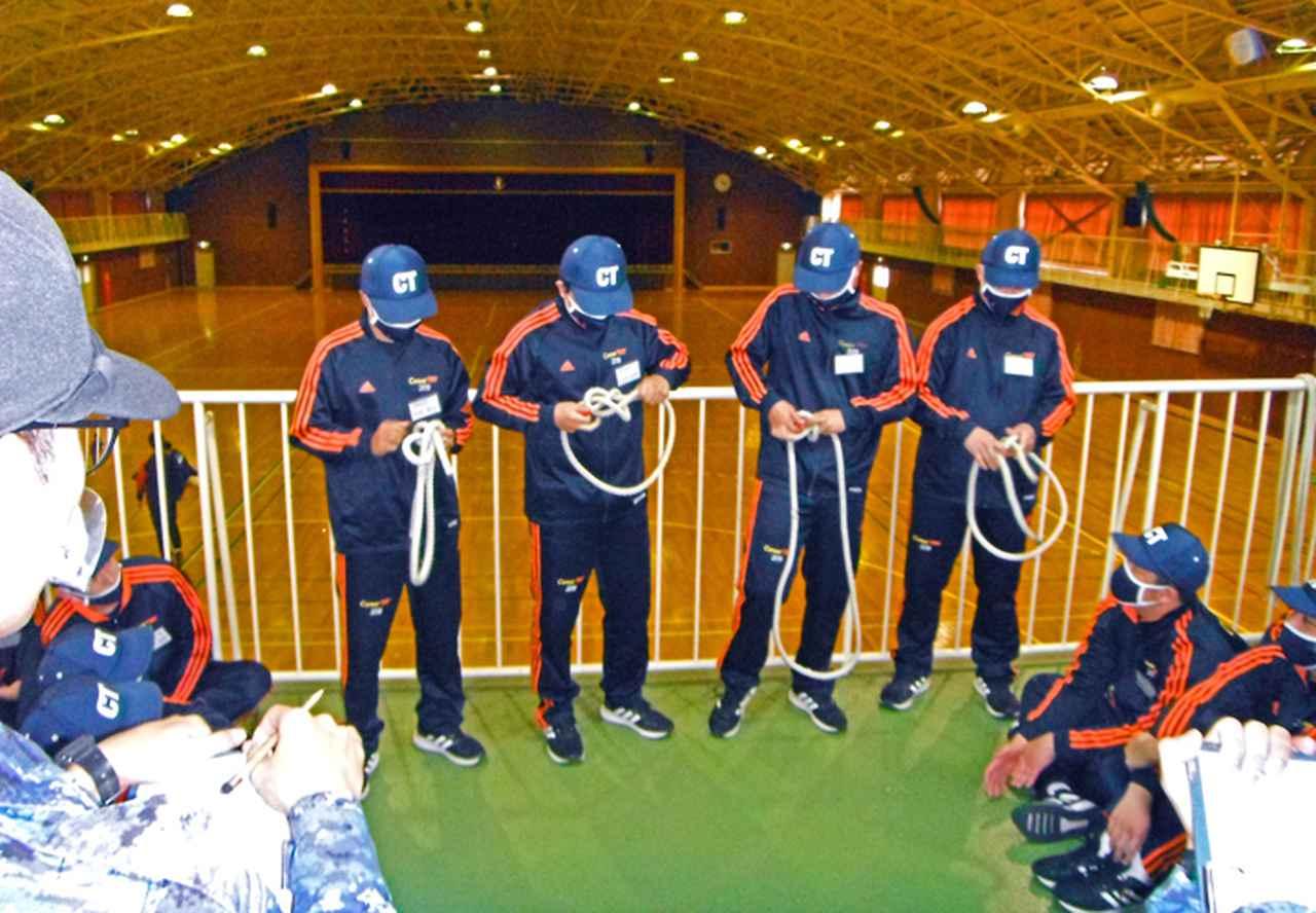 画像2: 高校生45人が海自体験 基本教練、短艇訓練など 大阪地本
