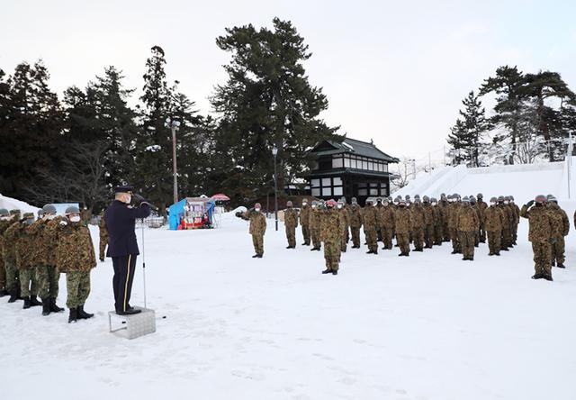 画像5: 「コロナ禍でも笑顔を」弘前城雪燈籠まつりに協力 弘前駐屯地