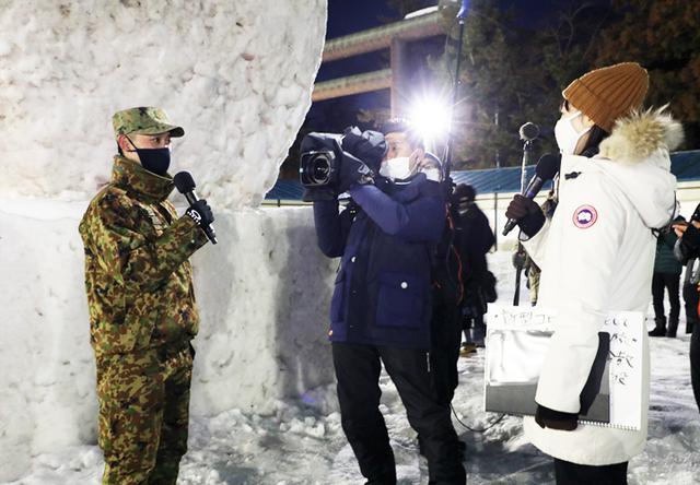 画像11: 「コロナ禍でも笑顔を」弘前城雪燈籠まつりに協力 弘前駐屯地