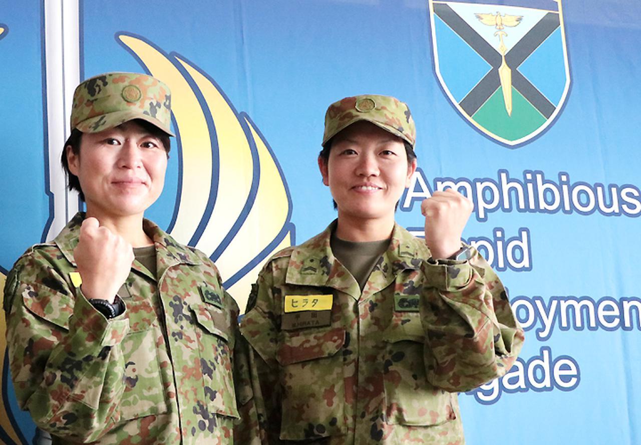 画像1: 水陸両用基本訓練課程を修了 女性隊員で初 相浦駐屯地