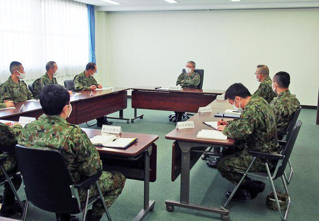 画像: 中隊長等主要幹部との懇談