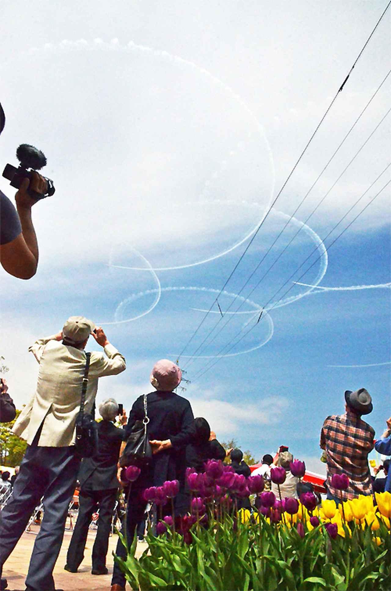 画像2: となみチューリップフェアに協力 ブルーインパルス飛行展示も|富山地本