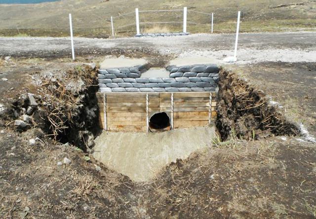 画像: 雨水が集中して洗掘された集水桝の補修と補強(整備後)