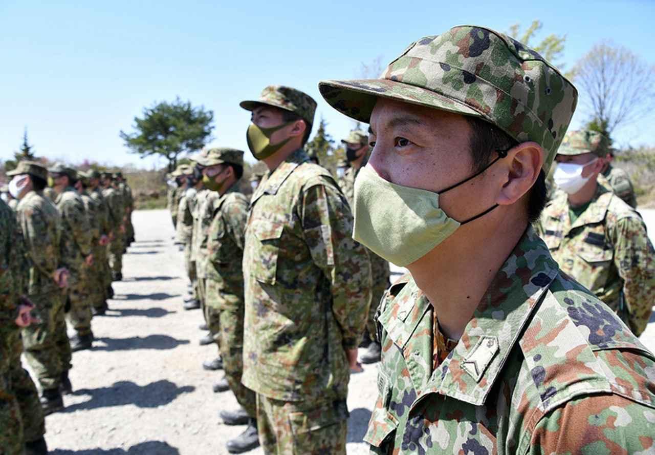 画像: 訓練 開始式 師団長訓示(第37普通科連隊)
