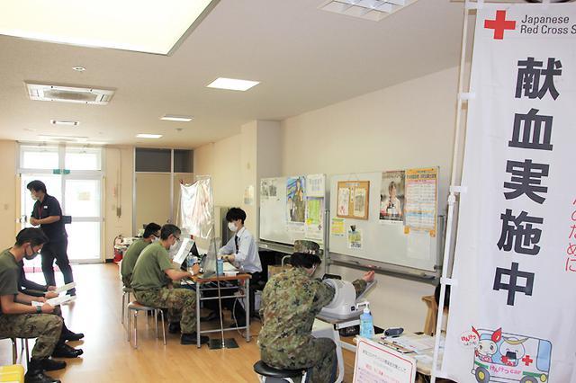 画像2: 万全な感染防止対策のなか61人が献血支援|仙台駐屯地