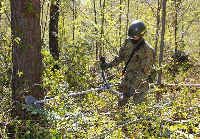 画像6: 春季演習場整備に36普連 訓練施設の機能を回復|伊丹駐屯地