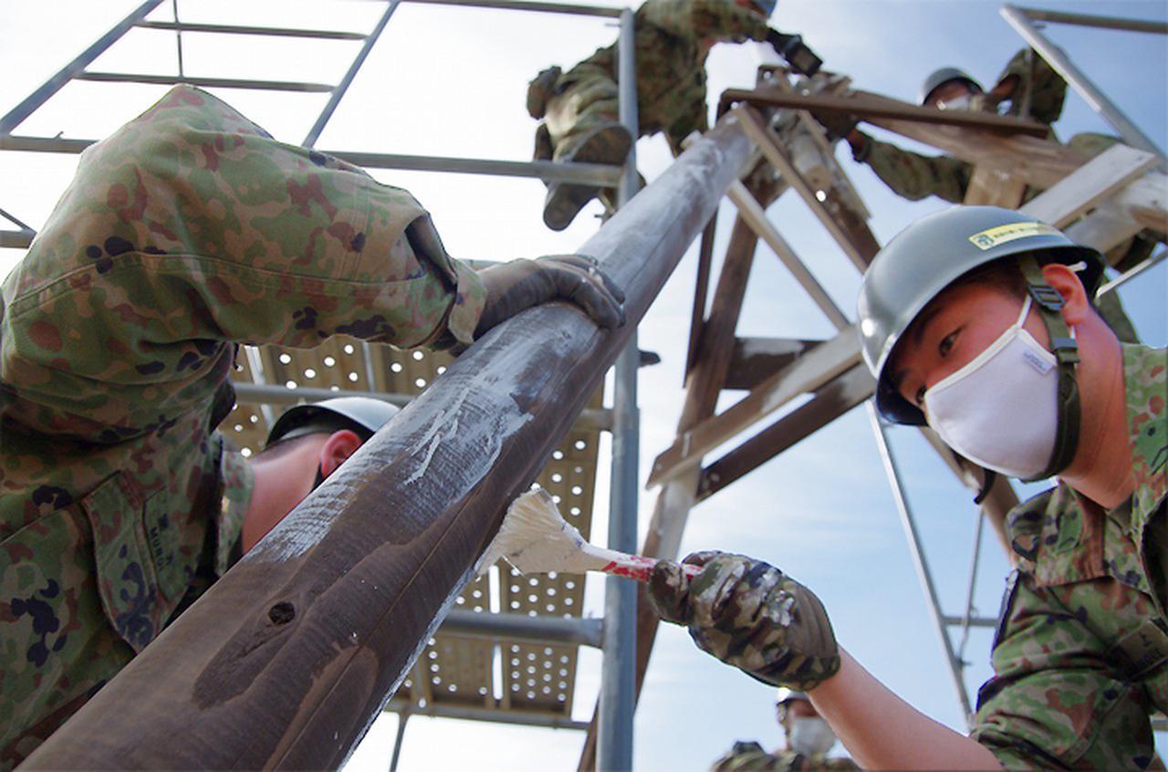 画像18: 春季演習場整備に36普連 訓練施設の機能を回復|伊丹駐屯地