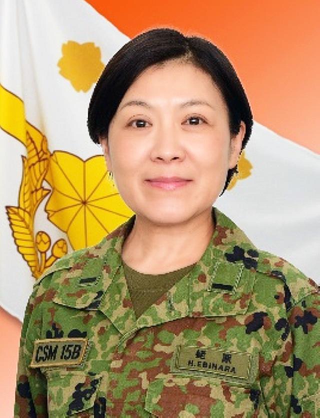 画像: 女性で初めて陸上自衛隊の旅団最先任上級曹長となった蛯原寛子准陸尉