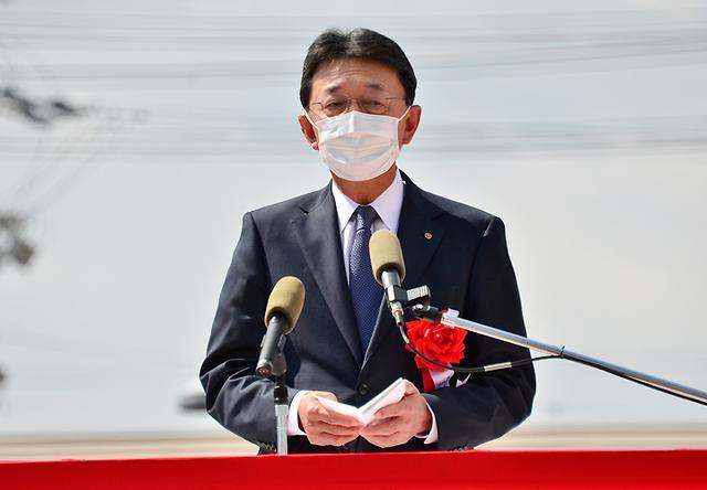 画像: 中勢防衛協会会長伊藤氏による祝辞