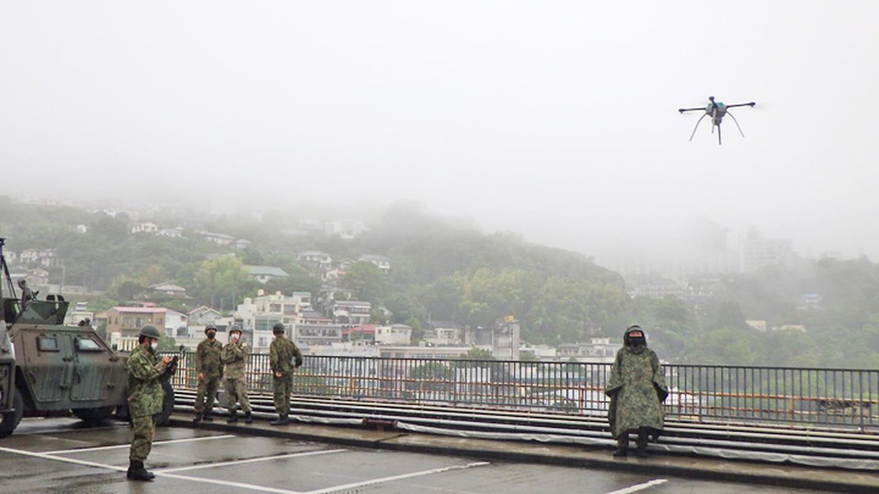画像: 陸自 ドローン(提供:統合幕僚監部)