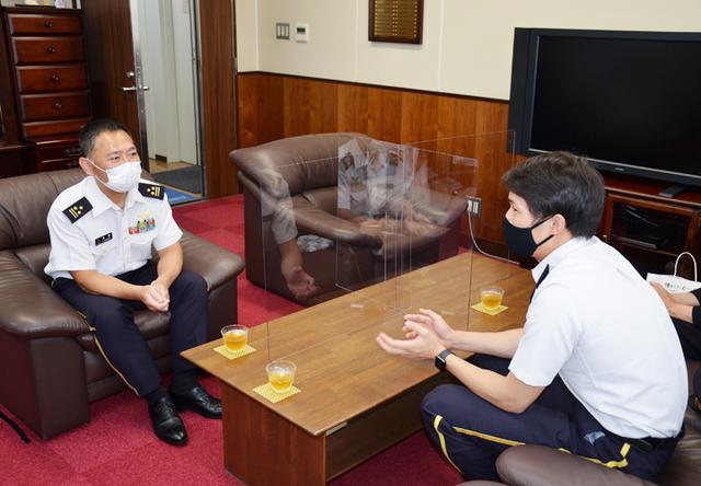 画像2: 東京五輪出場内定の山田3尉が地本・母校を訪問|三重地本