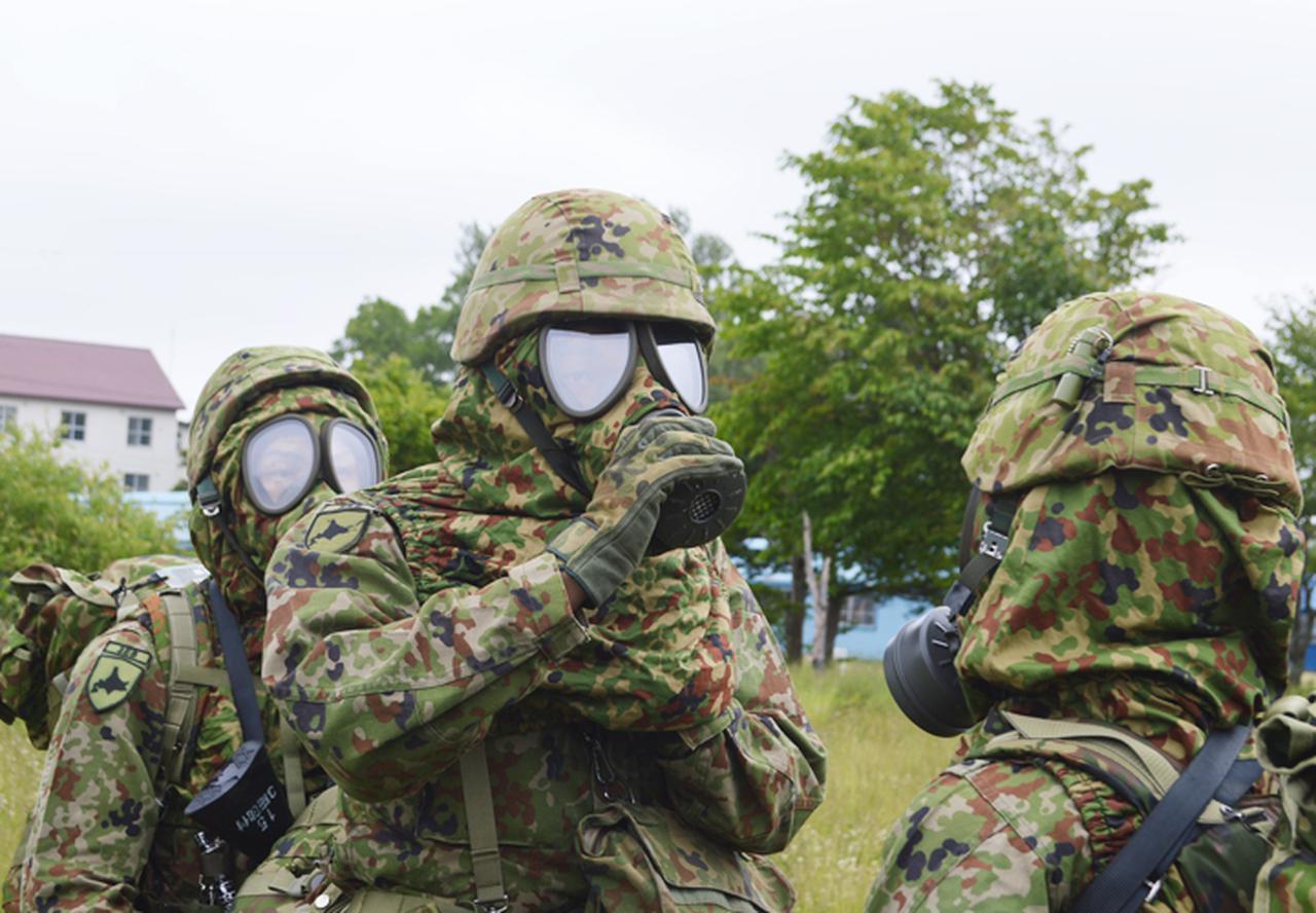 画像: 隊容検査防護マスク装面要領(第3施設団本部付隊)