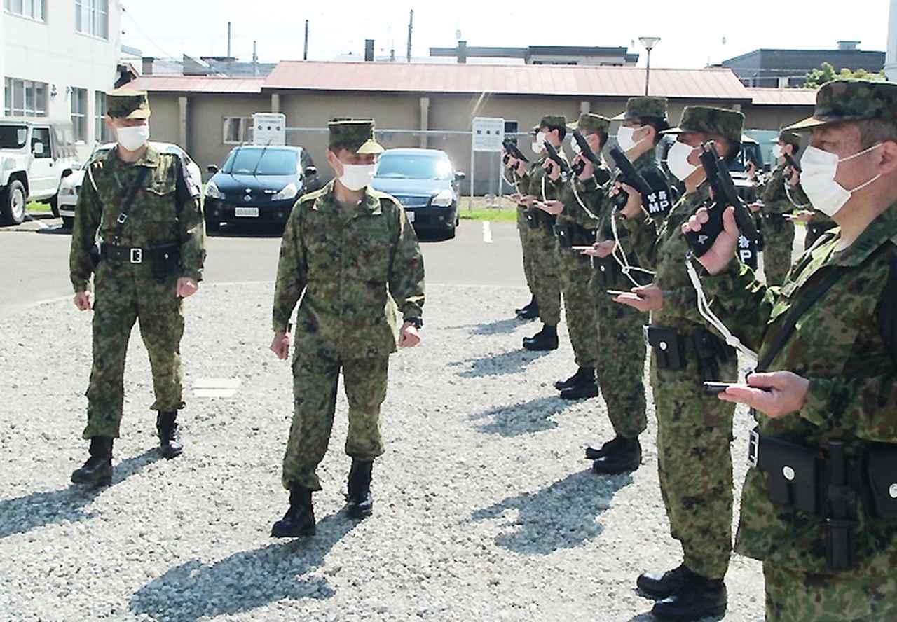 画像: 北部方面警務隊本部(警務点検)札幌