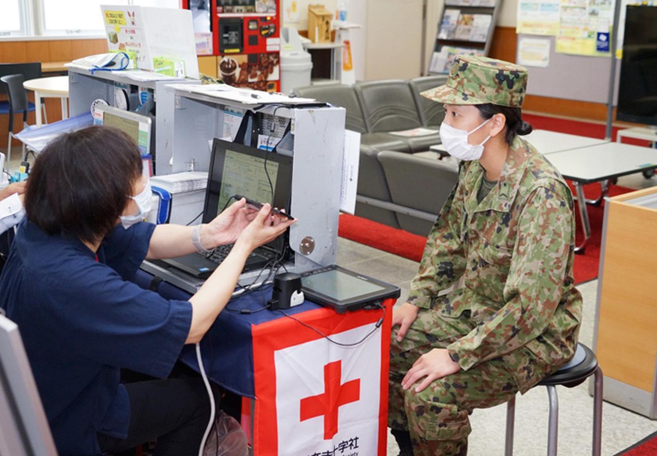 画像6: 駐屯地内で献血 隊員の協力で目標数を達成|岩見沢駐屯地