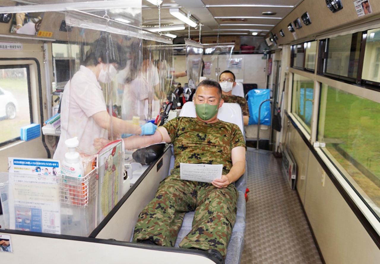 画像5: 駐屯地内で献血 隊員の協力で目標数を達成|岩見沢駐屯地
