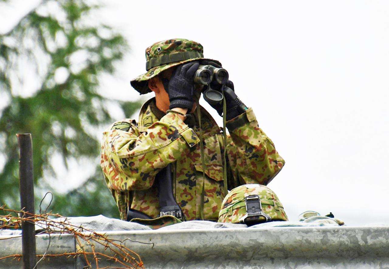 画像: 重要施設等前方の監視