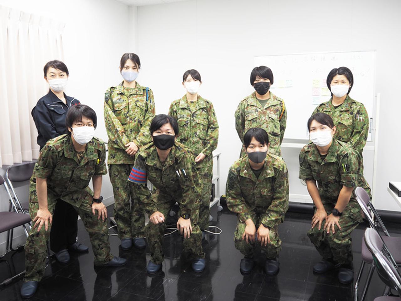 画像: この日、女性代表者会同に参加した9人 前列左から2人目が田中1曹、後列右から2人目が石川士長