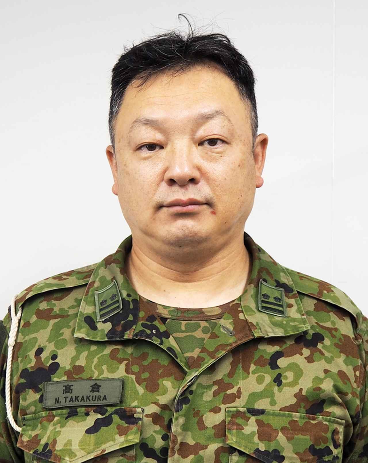 画像: 総務課長の髙倉信由2陸佐