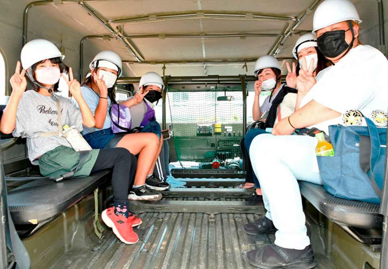 画像: 車両体験搭乗の様子