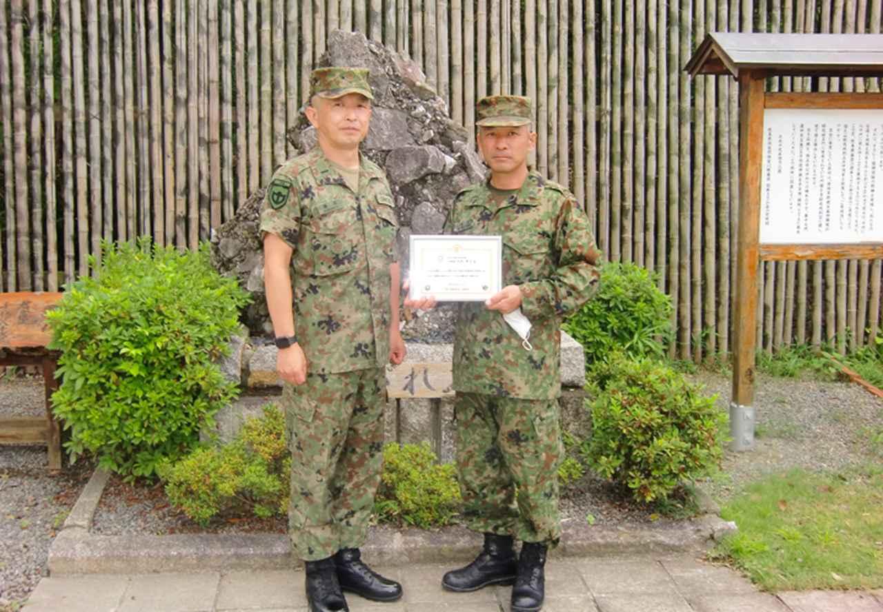 画像2: 矢沢1陸曹に最先任上級曹長褒賞 事故・災害対応に貢献|信太山駐屯地