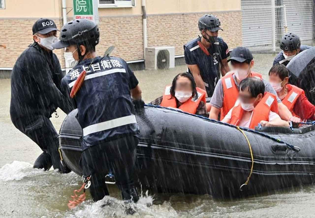 画像: 水中処分隊(救助活動) 提供:統合幕僚監部