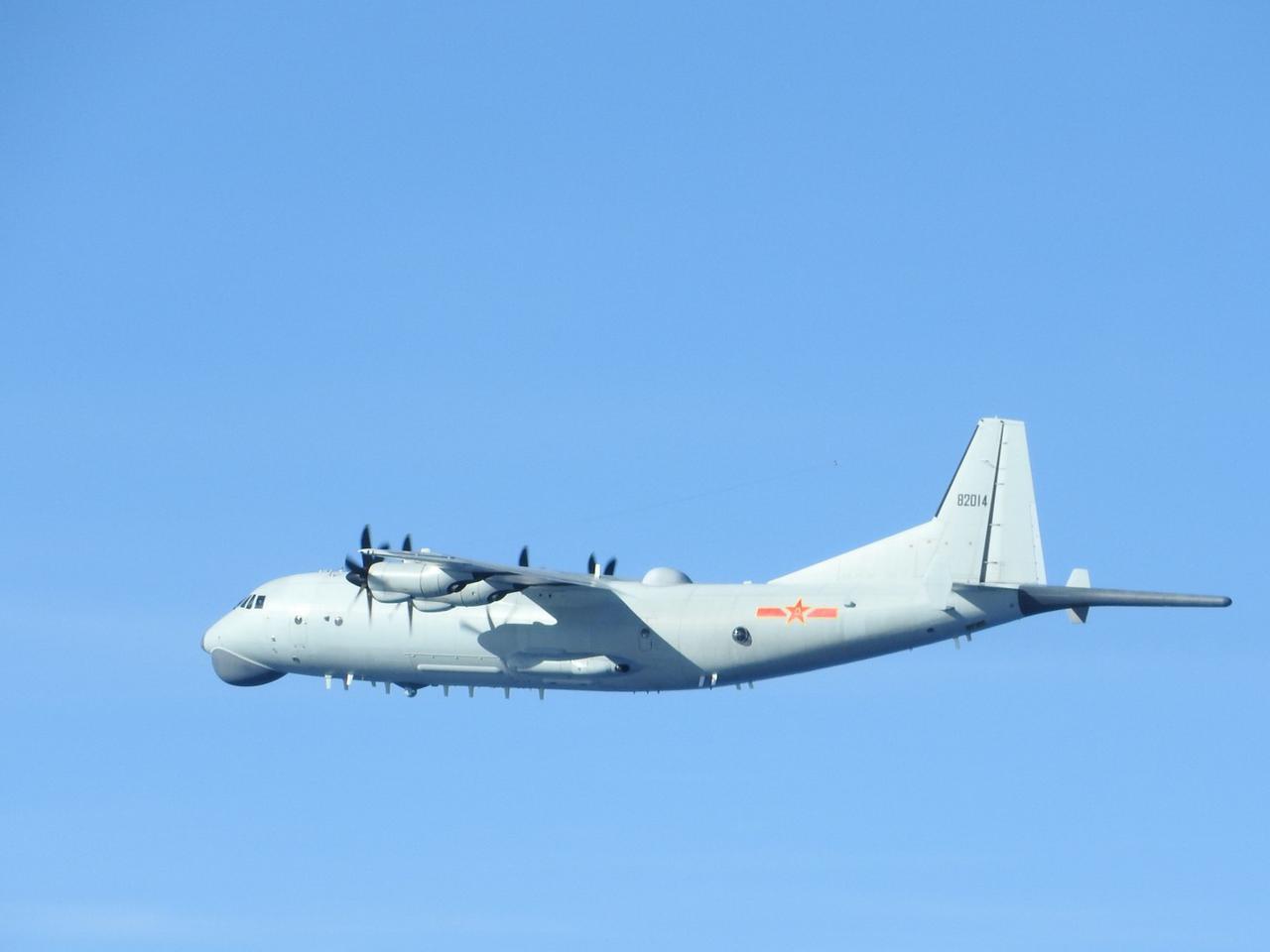 画像: 対象機(Y-9哨戒機)