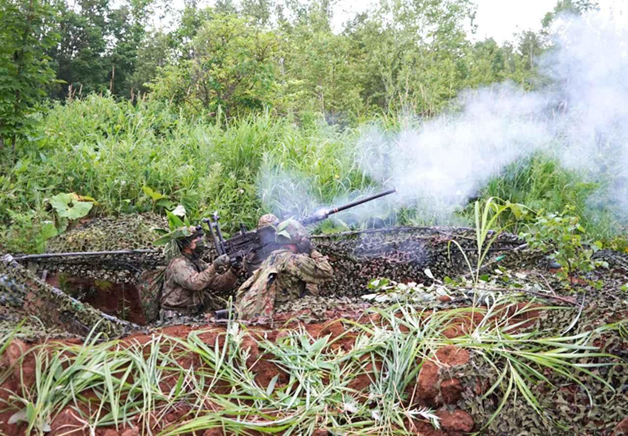画像: 重機関銃試射