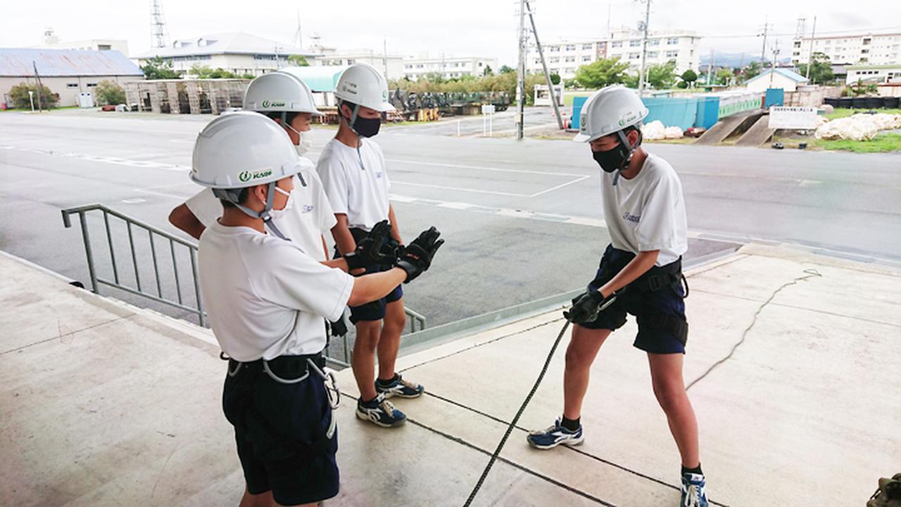 画像3: ロープ訓練
