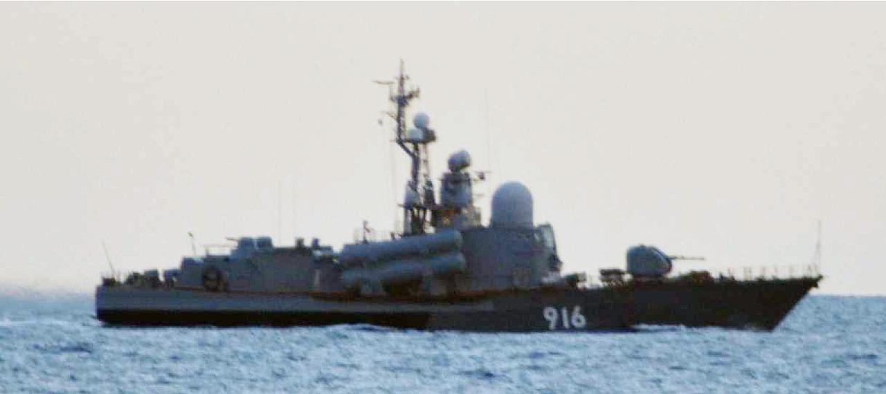画像: タランタルⅢ級ミサイル護衛哨戒艇(916)