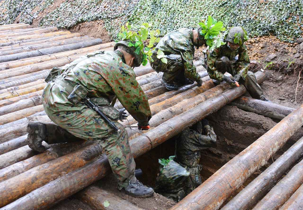 画像: 敵の攻撃に耐えうる地下指揮所壕の構築