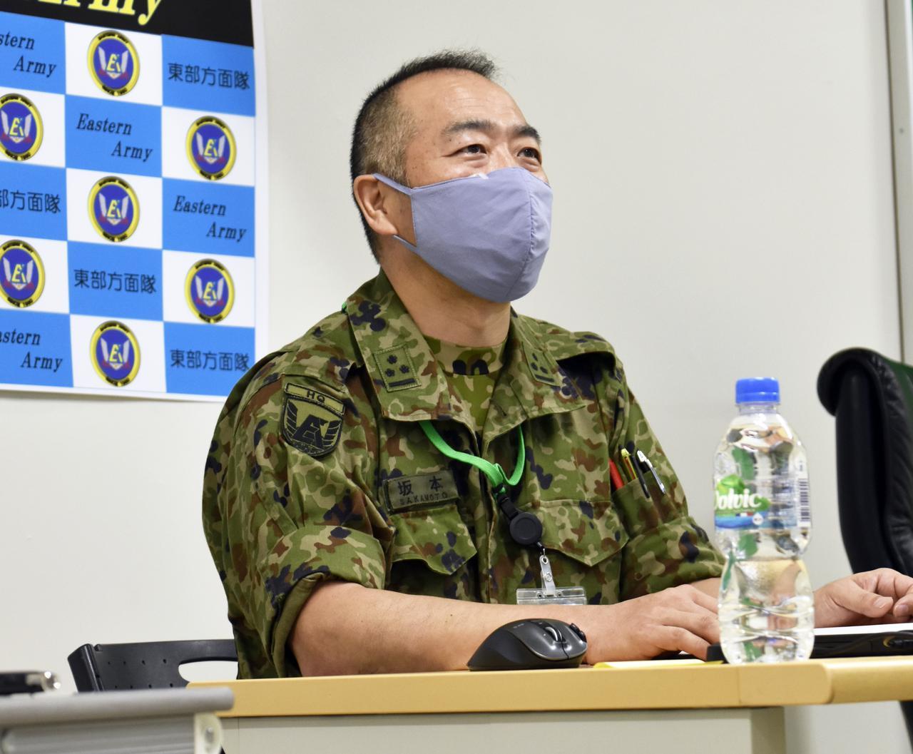 画像: 東方心理幹部の坂本1陸尉