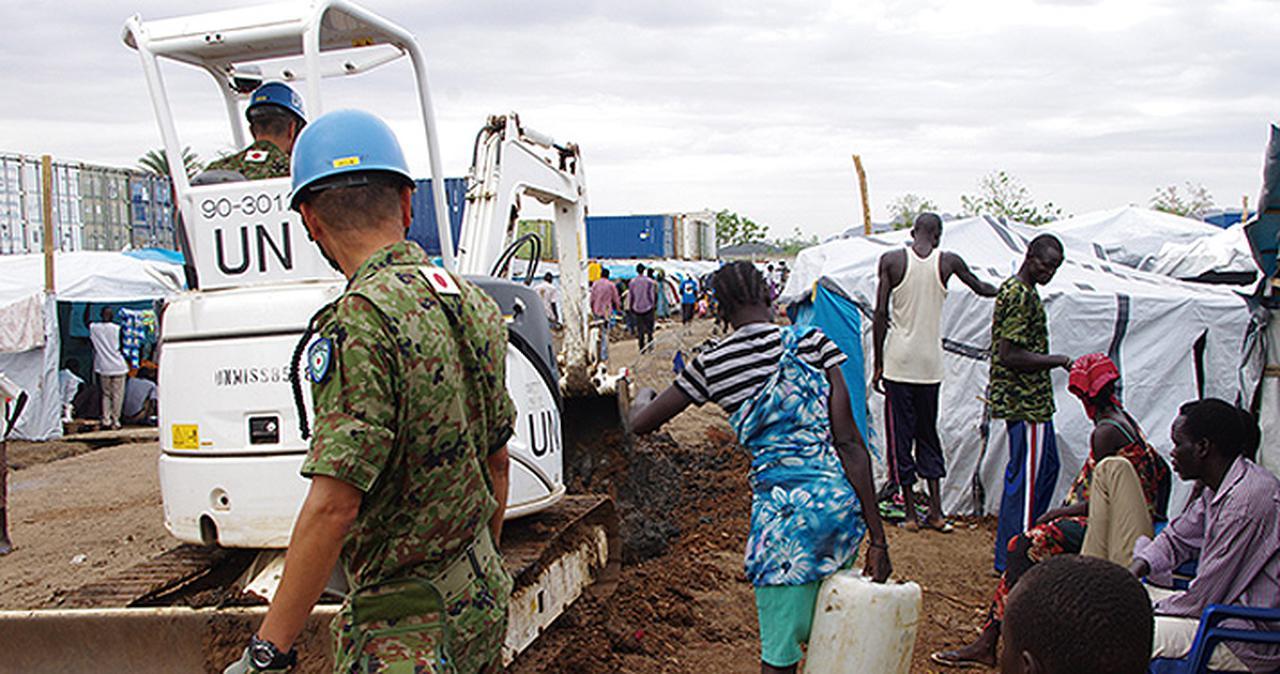 画像: 国連南スーダン共和国ミッションに臨む隊員 自衛隊京都地方協力本部ホームページより