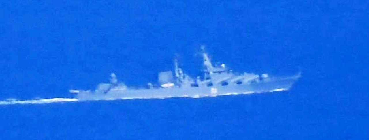 画像: スラバ級ミサイル巡洋艦 統合幕僚監部 報道発表資料より