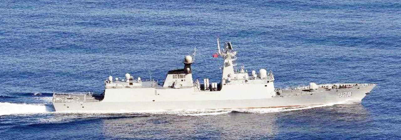 画像: ジャンカイⅡ級フリゲート(529) 統合幕僚監部 報道発表資料より