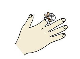 画像: 切断した指は圧迫止血をする 出典:応急処置Web www.hokkaido.med.or.jp