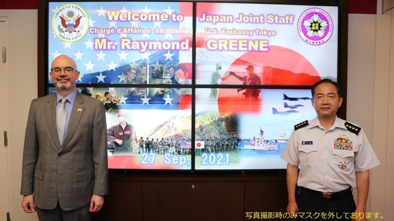 画像: 山崎統幕長がグリーン駐日米臨時代理大使と懇談