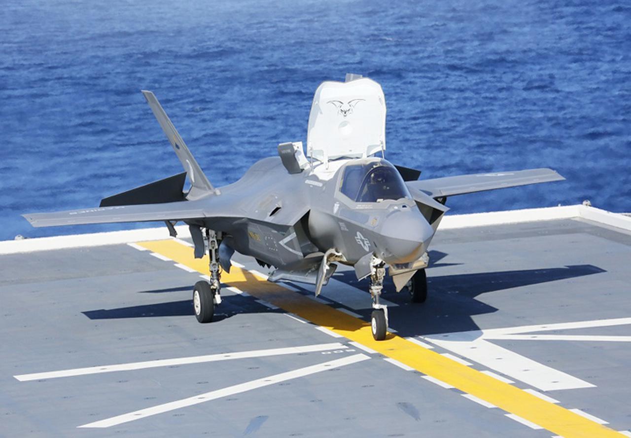画像: 米海兵隊F35B「いずも」着艦