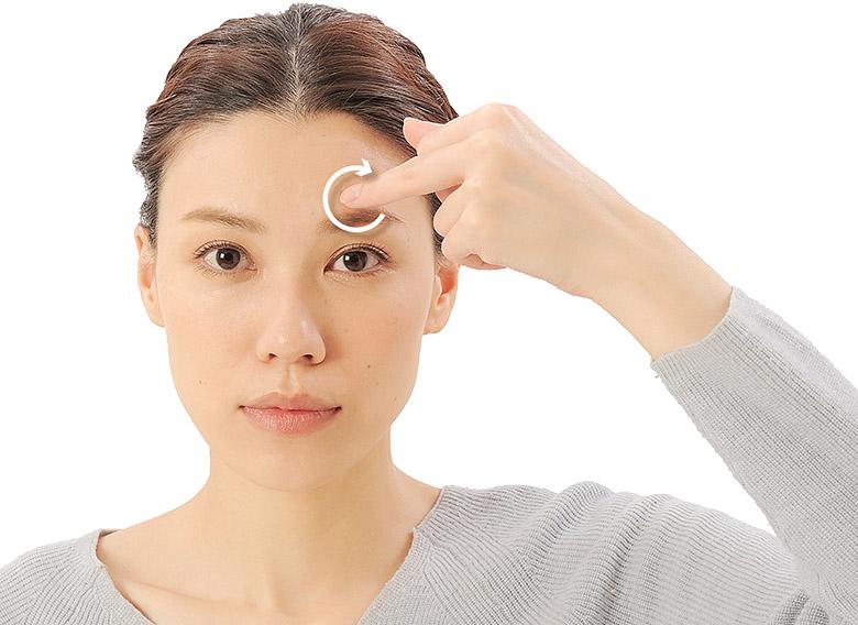 画像20: 「症状別の髪の生え際押し」のやり方