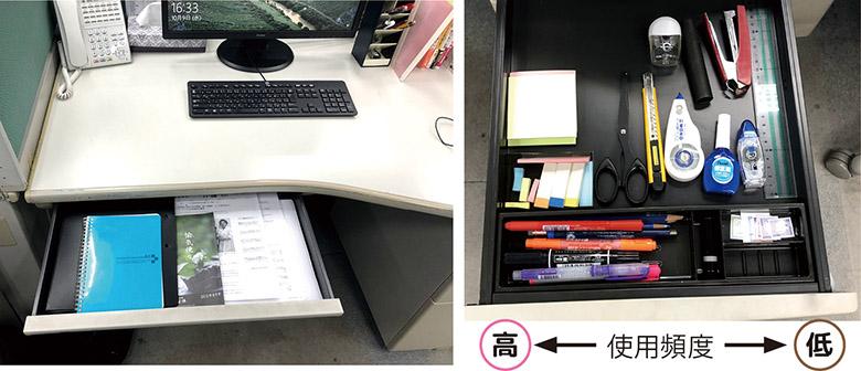 画像: よく使う書類は最上段の引き出しへ