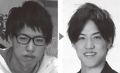 画像: 川島先生自身も顏の筋肉のトレーニングで表情が激変した (左)17歳の頃、(右)19歳の頃。目が大きく開き、目の下の涙袋も浮き出て目力が強くなったことで、頼れる印象に。さらに口角が上がって親しみのある表情へ
