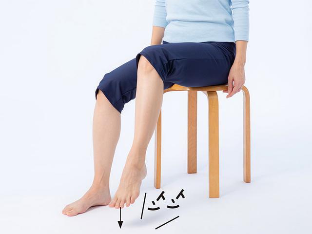 画像2: 骨たたき1 足をたたく (前足部で床をたたく)