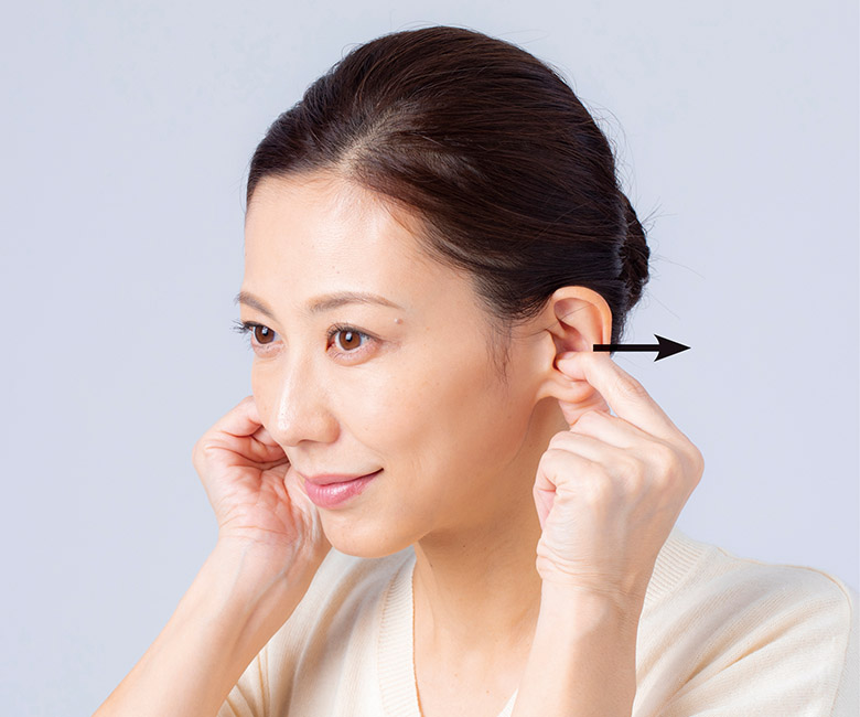 画像5: 耳ひっぱりのやり方