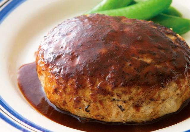 画像: ひき肉はちょっとで大満足の食べ応え ♪ 高野豆腐ハンバーグ