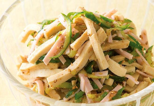 画像: さっぱり味で、はしがどんどん進む ♪ 高野豆腐の中華風サラダ