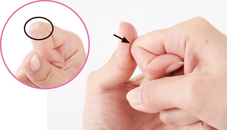 画像2: 眼瞼下垂に効く手のひらの押し方