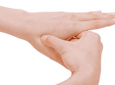 画像4: 足の裏刺激・合谷刺激のやり方
