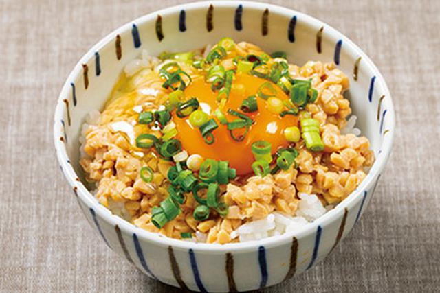 画像: 西山先生のお勧めはひきわり納豆卵かけご飯