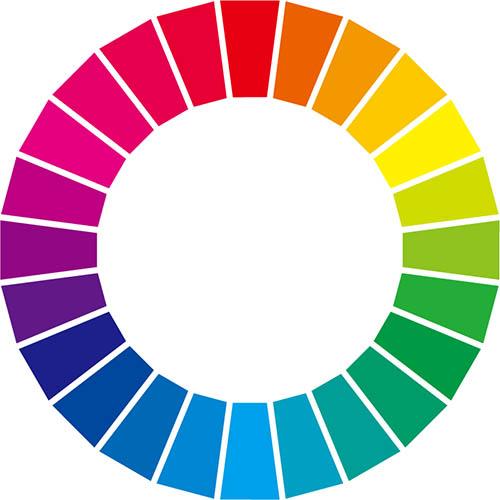 画像: 色相環のイメージ