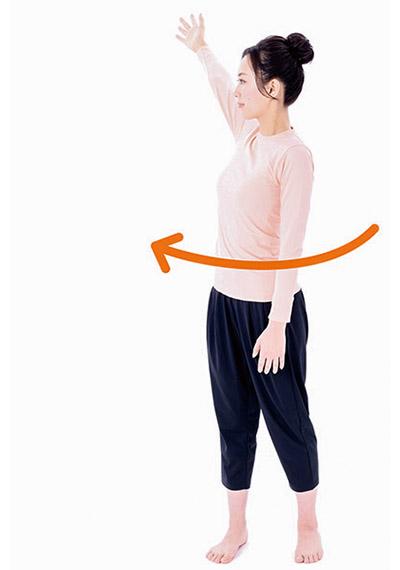 画像2: 肩の体軸ねじり④