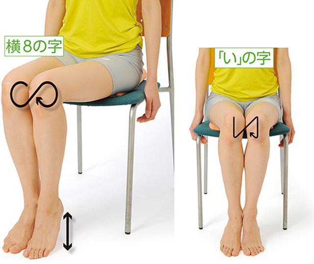 画像: ひざの8の字ゆらし (股関節周囲の筋肉を緩める)